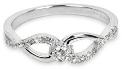 Stříbrný prsten se zirkony SC195