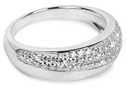 Stříbrný prsten se zirkony SC218
