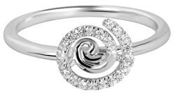 Stříbrný prsten se zirkony SC255