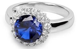 Stříbrný prsten s krystaly SC022 - SLEVA