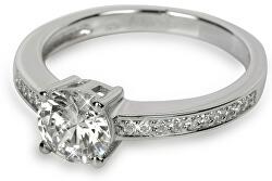 Strieborný prsteň s kryštálmi SC031