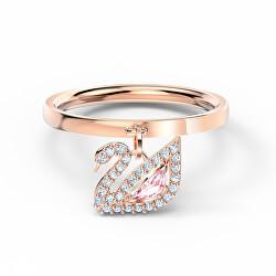 Női bronz gyűrű káprázatos kristályokkal Dazzling Swan 5569922