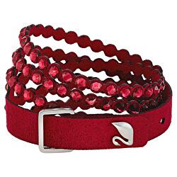 Červený Alcantara náramek s krystaly Swarovski Power 5511701, 5533516