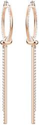 Dlouhé bronzové náušnice s krystaly LIFELONG 5390820