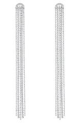 Dlouhé střapcové náušnice s krystaly Swarovski Fit 5490190