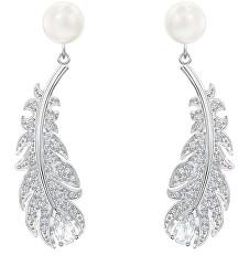 Elegantní náušnice s krystaly a perlami Nice 5496052