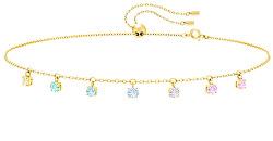 Hravý pozlacený náhrdelník s krystaly Attract5384392