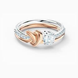 Luxus bicolor gyűrű kristályokkal 5535403