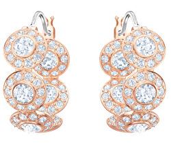 Cercei rotunzi de lux placați cu aur și cristale Swarovski Angelic Hoop 5450922