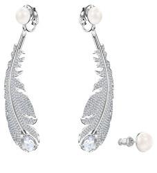 Luxusní náušnice s krystaly a perlami 2v1 Nice 5497866