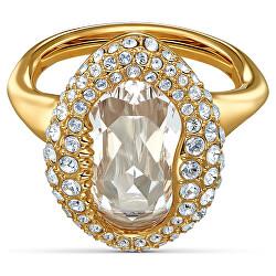 Luxusní pozlacený prsten s krystaly Shell 5535565
