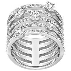 Masivní prsten s krystaly Swarovski 5184243