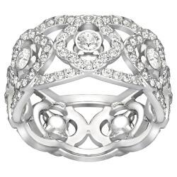 Masivní prsten s krystaly Swarovski Daylight 5184571