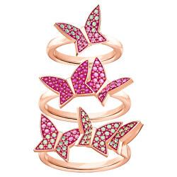 Módní bronzová sada prstenů s motýlky 5409020