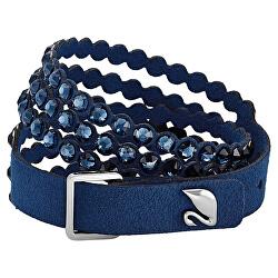 Modrý Alcantara náramek s krystaly Swarovski Power 5511697