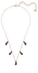 Něžný bronzový náhrdelník s peříčky Naughty 5497874