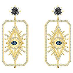 Originální náušnice s krystaly Swarovski 2v1 Tarot 5490920