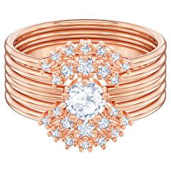 Oslnivý bronzový prsten s krystaly Moonsun 5486811
