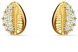 Pozlacené peckové náušnice ve tvaru mušlí Shell 5537921, 5520471