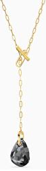 Pozlacený náhrdelník s třpytivým krystalem T BAR 5565997