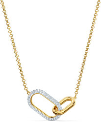 Pozlacený náhrdelník TIME 5566227