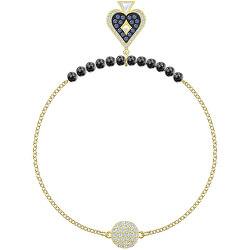 Pozlacený náramek s perlami a krystaly Swarovski Remix 5486590, 5515997