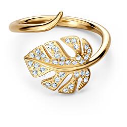 Pozlacený otevřený prsten s krystaly Swarovski Tropical 5519257