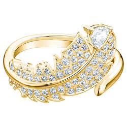 Vergoldeter Ring mit Kristallen 5515757