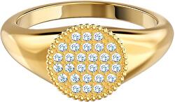 Aranyozott gyűrű kristállyal  Ginger 55675