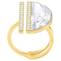 Pozlacený třpytivý prsten s krystalem Blow 5266704