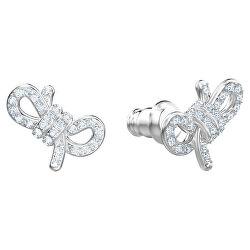 Půvabné náušnice s krystaly Swarovski Lifelong Bow 5492257