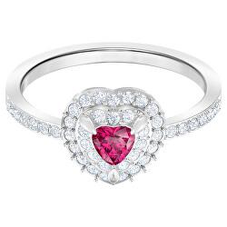 Romantický prsten s růžovým srdíčkem One 547069