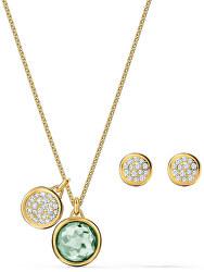 Slušivá sada pozlacených šperků Tahlia 5579789 (náušnice, náhrdelník)