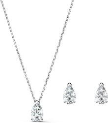 Slušivá sada šperků s třpytivými krystaly Attract 5569174 (náušnice, náhrdelník)