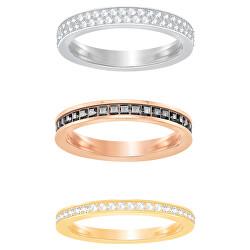 Souprava minimalistických prstenů s krystaly Hint 5371006