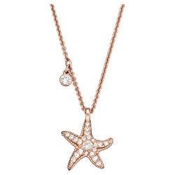 Stylový bronzový náhrdelník Fashion Jewelry 5371155 (řetízek, přívěsek)