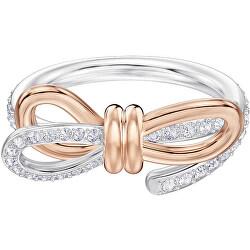 Csillogó bicolor gyűrű masnival  LIFELONG 5440641