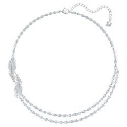 Třpytivý náhrdelník s krystaly Swarovski Nice 5493404