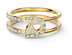 Třpytivý pozlacený prsten se špendlíkem So Cool 5522866