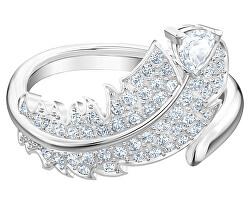 Třpytivý prsten s čirými krystaly Nice 5482913