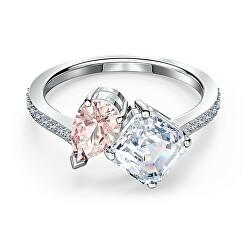 Csillogó gyűrű Swarovski kristályokkal ATTRACT SOUL 55353