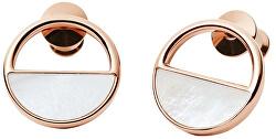 Bronzové náušnice kôstky s perleťou SKJ0998791