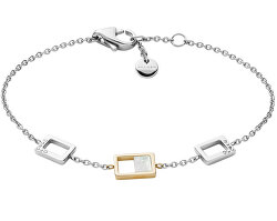 Elegantní ocelový náramek s krystaly a perletí Agnethe SKJ1429998