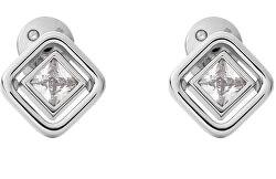 Jemné oceľové náušnice s čírym kryštálom Elin SKJ1431040