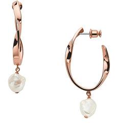 Luxus bronz fülbevalók valódi gyöngyökkel Agnethe SKJ1397791