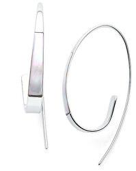Luxusné oceľové náušnice s perleťou SKJ1330040