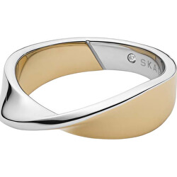Divatos bicolor gyűrű kristállyal SKJ1271998