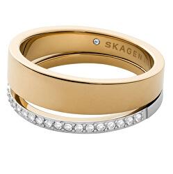 Időtálló bicolor acél gyűrű Elin SKJ1451998