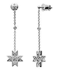 Oceľové náušnice s kryštálom hviezdy SKJ1260040
