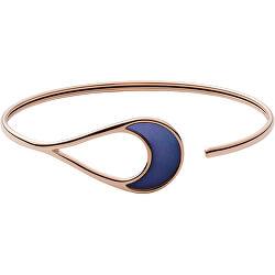 Pevný bronzový náramok s modrou perleťou SKJ1363791